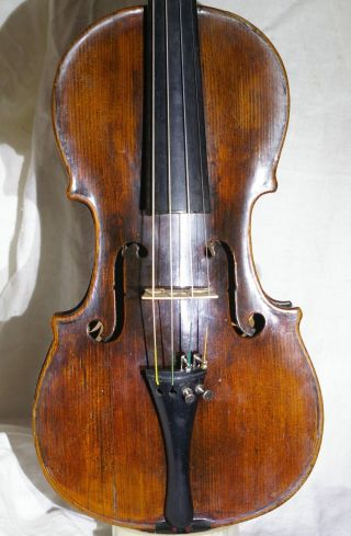 Antique ?18th C.  Bavarian? Violin With Grafted Scroll Ready To Play photo