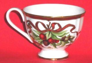 Christmas Tiffany Holiday Tea Cup Only No Saucer Garland Ribbon photo