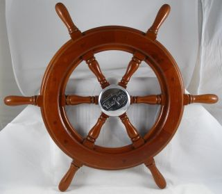 Antique Salvaged Trojan Helm Wheel Vintage Yacht Wheel Ship Wheel 22