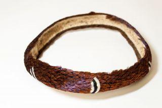 Gorgeous Rare Hand - Stitched 1920s Hawaii Pheasant Feather Hatband - photo