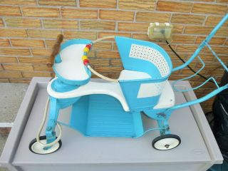 Vintage Mid Century 1950 ' S Taylor Tot Baby Stroller - Blue And White photo