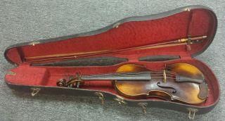 Antique Violin Antonius Stradivarius Copy German Cremonensis Faciebat Anno 1716 photo