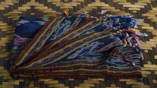 Indonesien Timorese Hand Woven Textile Shawl Cloth Fabric Handmade S/h Ga70 photo