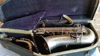 Antique 1917 - 19 Harwood Professional Saxophone,  J.  W.  Jenkins Sons Music Company photo