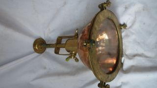 Vintage Marine Ship Copper And Brass Ship Cieling Light 1 Pc photo