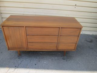 56044 Mid Century Modern Buffet Sideboard Server Cabinet photo