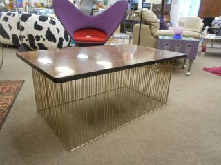 Vintage Verner Panton Style Chrome Wire Cocktail Table Mid Century Modern 1960 ' S photo