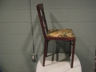 Antique Folding Chair Leg - O - Matic 1800 - 1900s Vintage Fold - Up Chair Funeral Guest photo