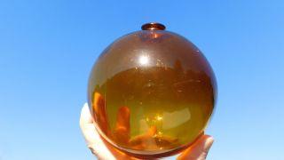 Wonderful Vintage America Made Amber Northwestern Glass Co.  Glass Float photo