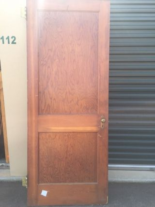Antique Vintage 2 Panel Interior Door 31 3/4
