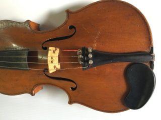 Antique Antonius Stradivarius Violin Copy Made In Germany Antique Case And Bow photo