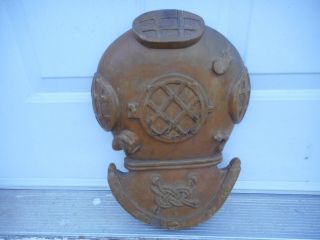 Antique Hand Carved 19th C.  Style Diving Helmet.  Possibly A Nautical Trade Sign photo