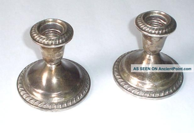Gorham Sterling Silver Candle Sticks Candlesticks & Candelabra photo