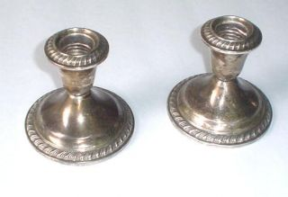 Gorham Sterling Silver Candle Sticks photo