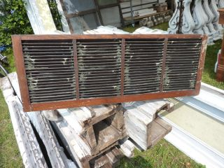 Late Victorian Quartersawn Oak Shutter Blind Screen Found In Maine 39.  5 X 14.  5