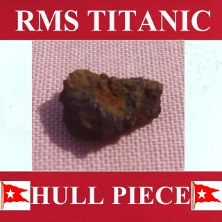 Piece From Titanic.  Metal From Cabin C81.  & History. photo
