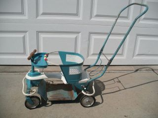 Vintage 1950 ' S Taylor Tot Baby Stroller Walker Blue W/labels And Beads photo