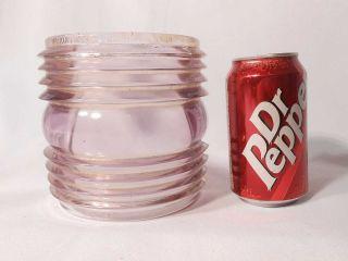 Rare Perkins Purple Glass Fresnel Bow Lens No.  14 Mould 10 - 5 - 9/16
