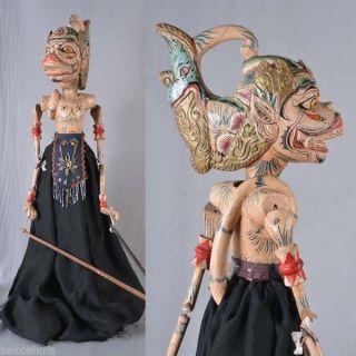 Indonesian Wayang Golek Rod Puppet Marionette Javanese Jawa Raree Java Art Go92 photo