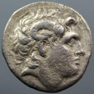 Lysimachos,  Silver,  Tetradrachm,  Alexander,  Ammon,  Athena,  Kyzikos,  After 281 Bc photo
