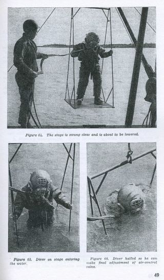 Usn Mark V Diving Helmet Military Diving Manual1943 photo