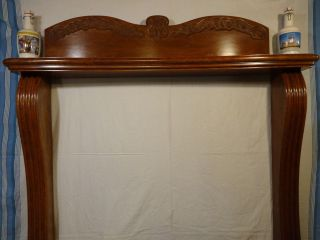 Vintage/antique Handcarved French Colonial Cherrywood Fireplace Mantle (72
