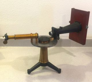 Antique Late 19th Century Spectroscope With Camera Photographic Attachment photo
