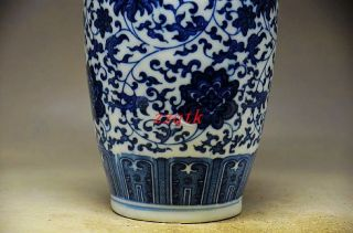 Exquisite Chinese Blue And White Porcelain Handmade Decorative Vase photo