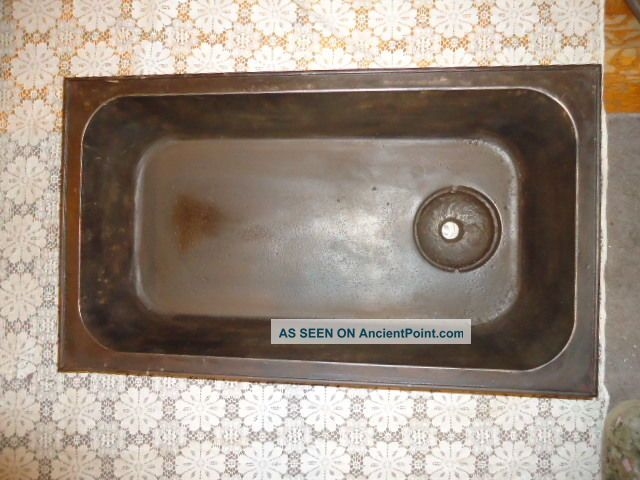 Antique Cast Iron Laundry Sink,  Maine Farm Estate,  Solid,  S.  M.  Co.  B 2 - 1/2,  Dover,  Nh Clothing Wringers photo