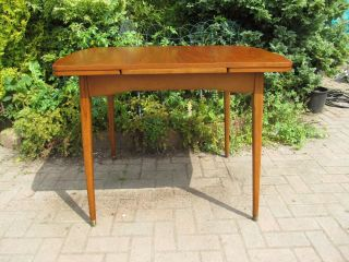 Mid Century Danish 1960 ' S Teak Extending Draw Leaf Dining Table - Compact Size photo