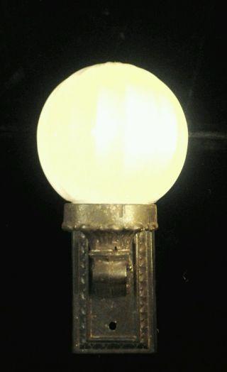 Antique Vintage Cast Iron Porch Light Fixture photo