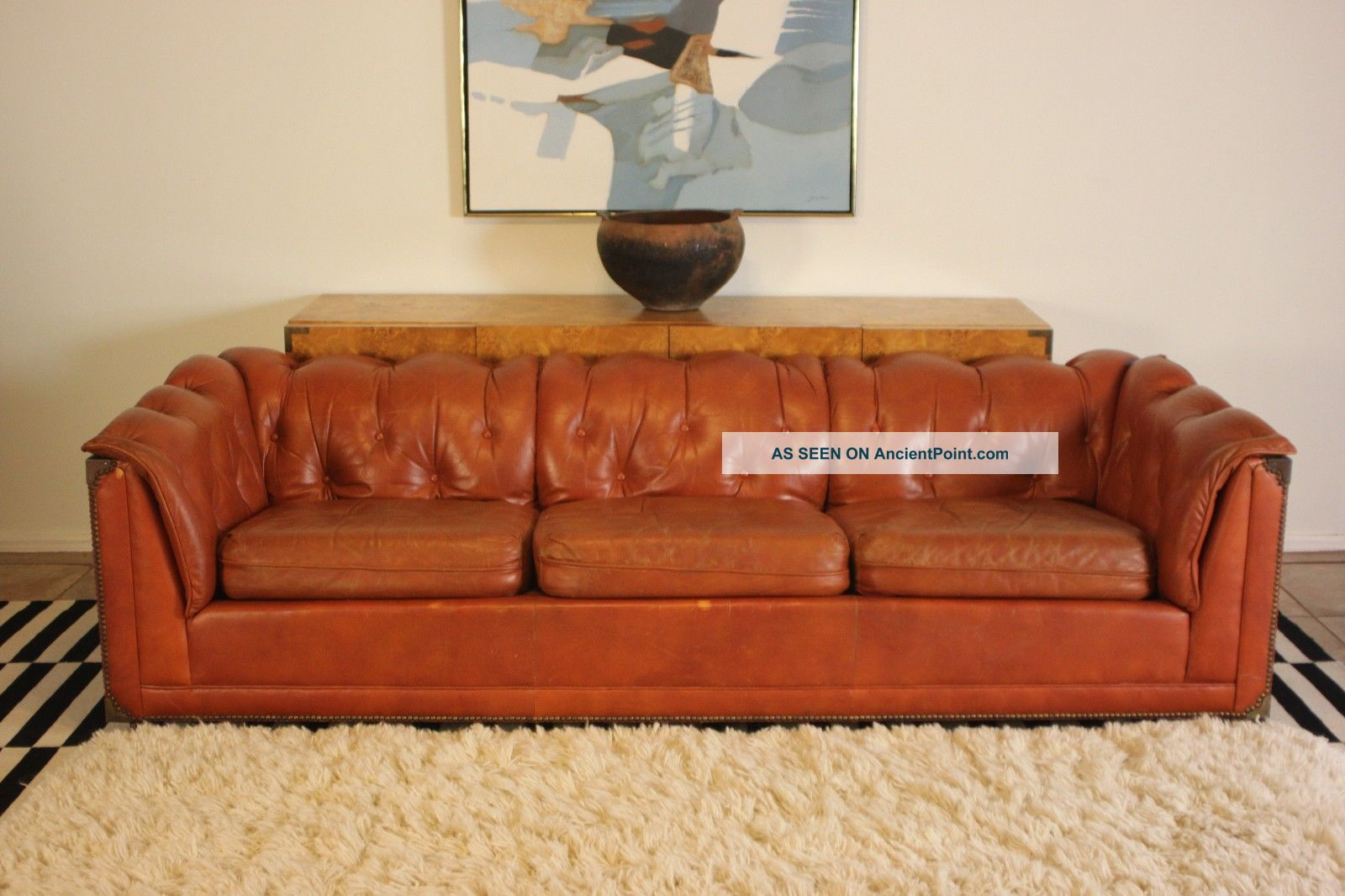 Majestic Schafer Bros Mid Century Tufted Campaign Style