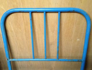 Pair Vintage Iron Twin Bed Headboards Or Single Frame Country Cottage Rustic photo