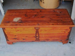 Local Roos Cedar Chest Vintage Date??? On Rollers Removable Shelf photo