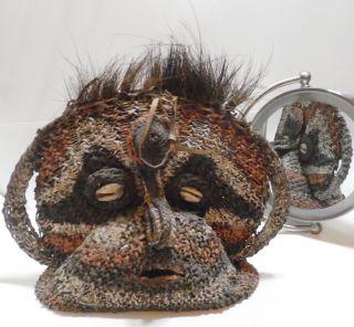 Fantastic Rare Janus Head - Double Faced Ceremonial Yam Mask Papua Guinea photo