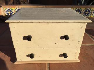 Primitive Wood Box Drawers Shabby Farmhouse photo