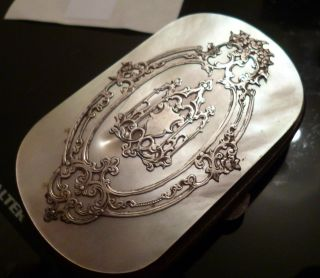 Antique French Silver & Mother Of Pearl Expanding Purse photo
