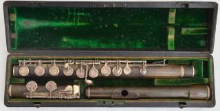 Antique Rudall Carte&co.  London No.  3212 Ebonite Boehm System Flute Year - 1900 photo