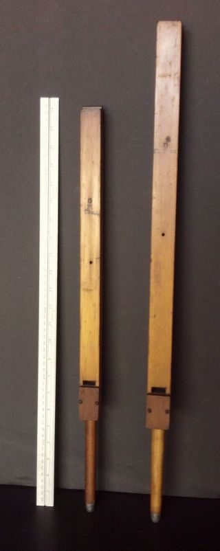 2 Antique Collectible Wooden Organ Pipes Early 1900 ' S Prim Decor Repurpose photo