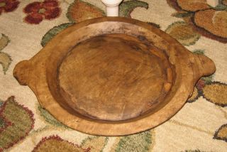 Carved Solid Wood Dough Bowl Table Centerpiece Primitive/french Country Decor photo
