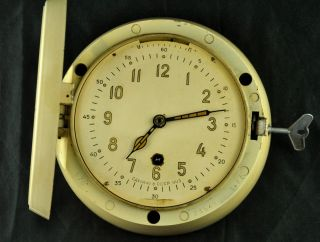 Vtg Ussr Russian Submarine Navy Marine Ship Wall Radioroom Clock Vostok Ccz 1963 photo