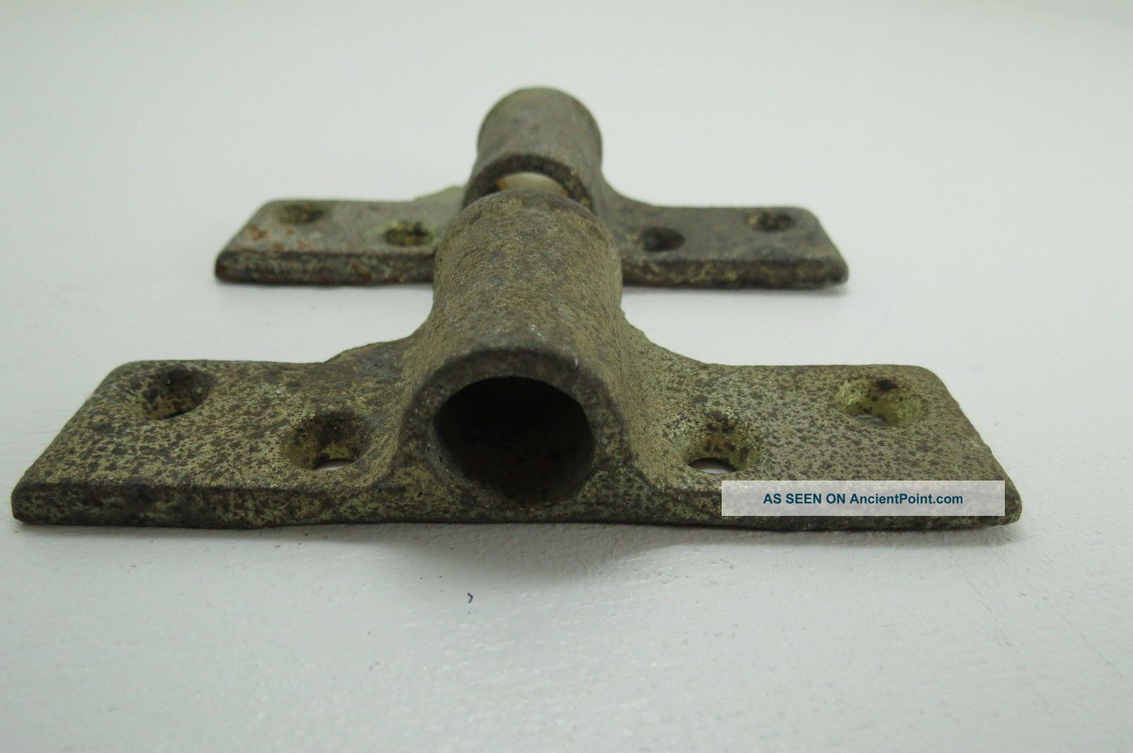 1/2 Or 5/8 Inch Galvanized Steel Oar Lock Brass Mounts Row Boat (ol815) Other Maritime Antiques photo