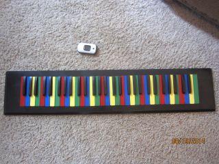 Colorful Pop Art Piano Organ Key Musical Sculpture Kids Wall Hanging photo