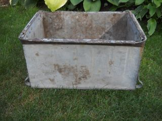 Vintage Egg Crate Galvanized Metal Wisconsin Barn Find Holes On Bottom Drainage photo