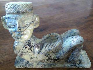 Hand Carved Stone Aztec/inca Figure photo