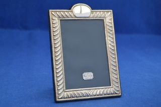 Vintage Solid Silver Photo Frame Sheffield 1992 - Photograph Picture Christmas photo