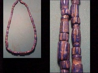 String Of Roman Lapis Lazuli Beads.  Circa 100 - 400 Ad photo