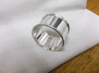 A Vintage Sterling Silver Napkin Ring Birmingham 1903 photo