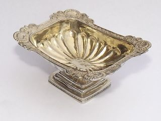 Fine Antique Imperial Russian Solid Silver Gilt Salt Cellar Moscow C1829 photo