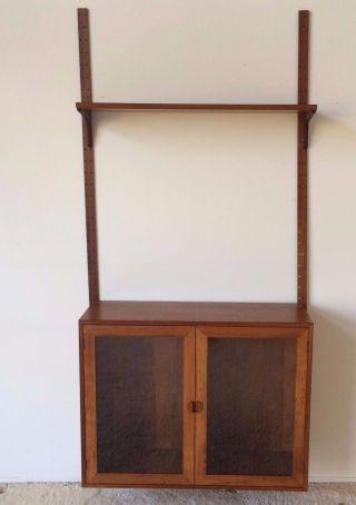 Vintage Mid Century Hg Furniture Teak Floating Cabinet Wall Cado Denmark Shelf photo